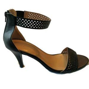 Lane Bryant Sandals Heels Shoes 11 W Black Zip
